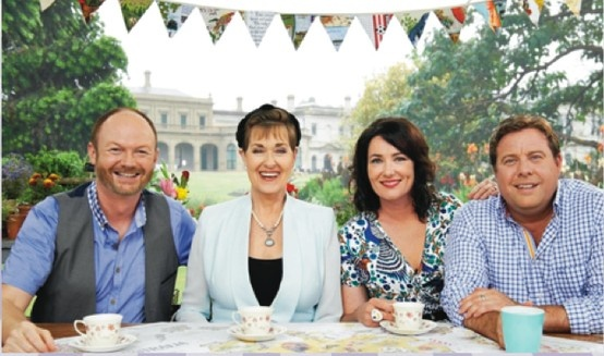 The Great Australian Bake Off - Judges Dan lepard and kerry Vincent with hosts Anna Gare & Shane Jacobson