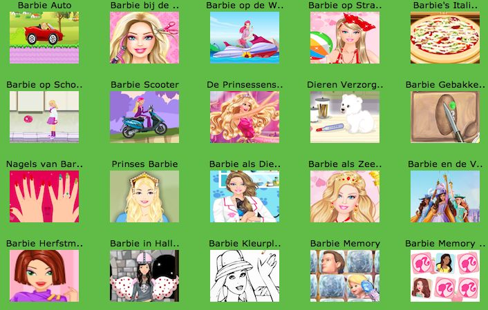 11 best Barbie Spelletjes images by Webmaster Minipret on ...