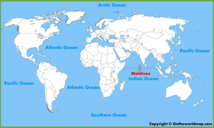 Maldives location on the World Map