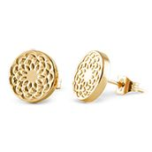 """GOLD TONE SOUTH HILL FLOWER STUD EARRING  Show off your love of South Hill with these gorgeous Gold Flower Stud Earrings featuring the South Hills Signature Flower. Combine them with your favorite locket for a beautiful look.  Please LIKE my page on Facebook for other locket ideas, as well as special promotions. https://www.facebook.com/bellaslocketjewelry.  Create your own """"STORY"""" today..."""