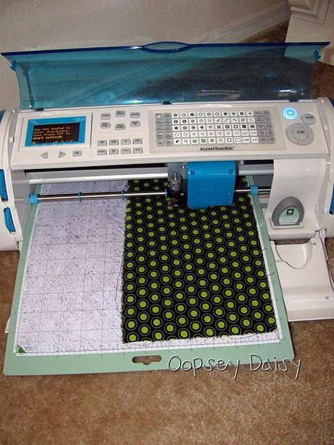 Cricut can cut fabric on slowest setting with highest pressure... with applique on back, you can just iron on to anything!!! Great idea!