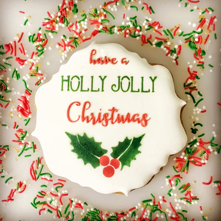 Holly Jolly and Holly & Leaves Cookie and Cake stencils.  www.sayitwithsweetness.com.au