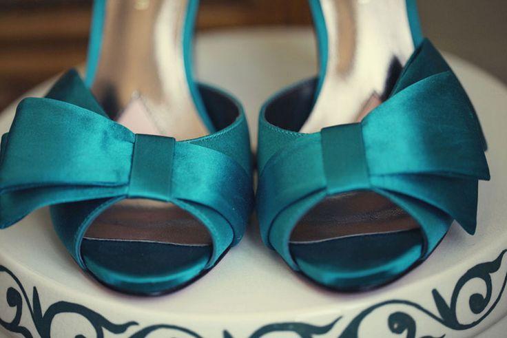 Scuba blue heels