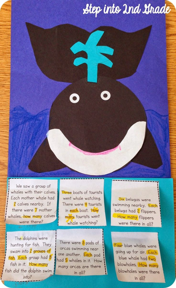 Bilingual dolphin counting card 6 clipart etc whale craft and word problems download