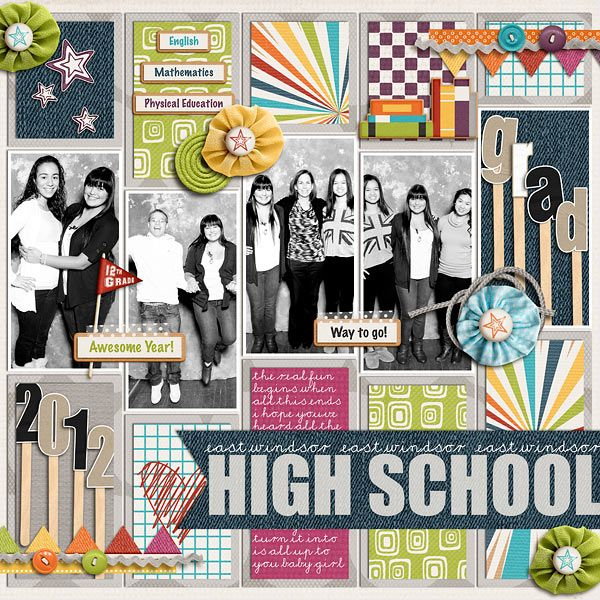 Best 25 school scrapbook layouts ideas on pinterest school creditschool memories collection by jady day studio cindys layered templates trio pack pronofoot35fo Image collections