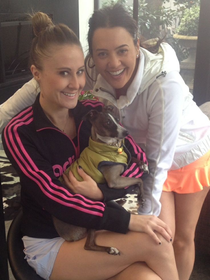 Real housewives of Melbourne loving Mr Figaro. The Italian greyhound