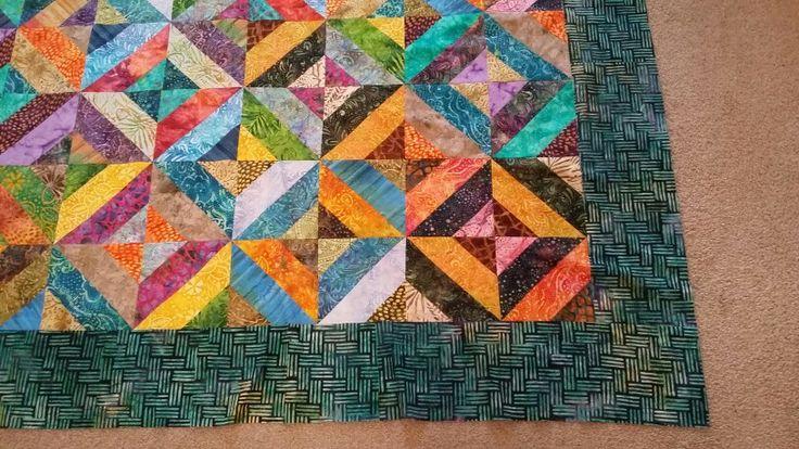 Top quilt jelly roll batik moda fabrics