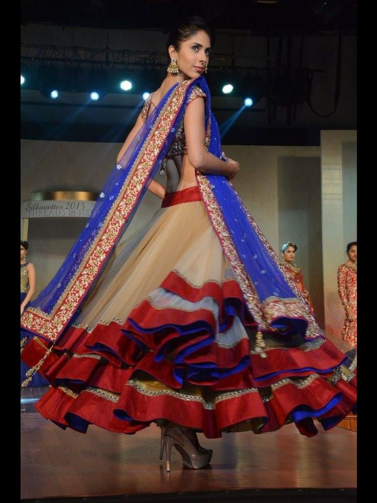Three layoured chaniya on net with heavy work on dupatta and blouse of emboss kasab and stones, only at manish reshamwala fashion studio, 9879568040