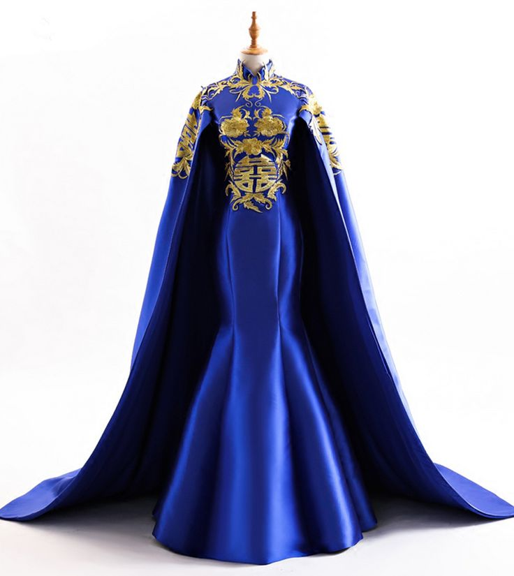 Royal Blue Long Mermaid Evening Prom Dresses New