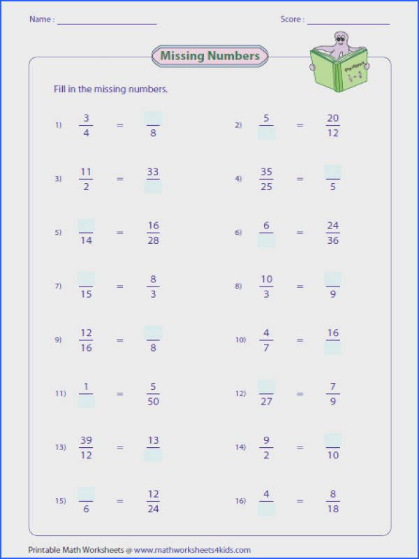 Pin On Fractions Worksheets Grade 4