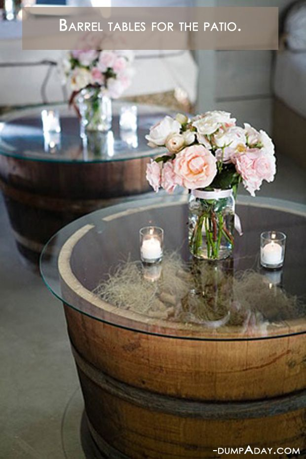 Barrel Tables - for the deck!