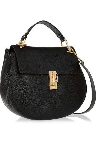 CHLO�� Drew medium textured-leather shoulder bag | Bag Lady ...