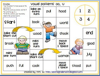 Another vowel pattern game  | Word Work | Reading street, Phonics