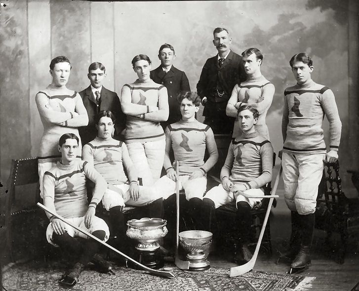 1899 Montreal Shamrocks; winners of the Stanley Cup.