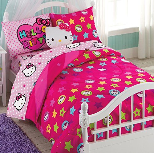 hello kitty 6 piece twin bedding set reversible comforter sanrio http