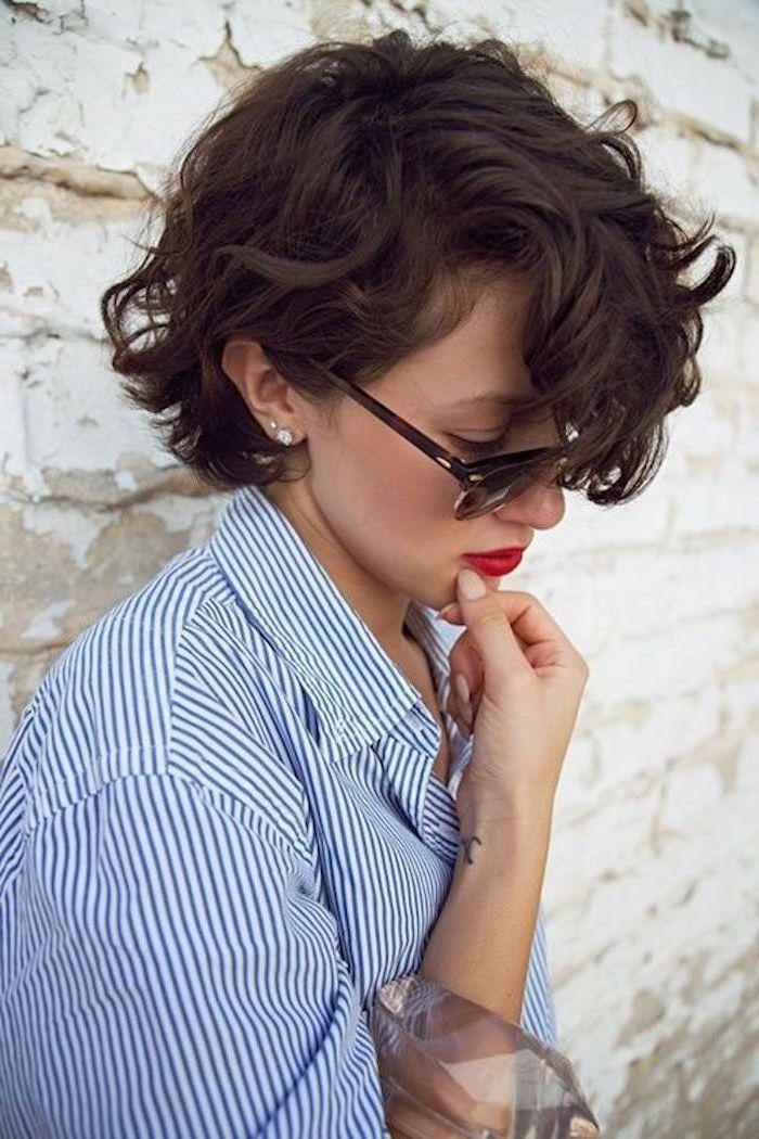 ▷ 1001 + Ideen für Kurzhaarfrisuren für lockiges Haar