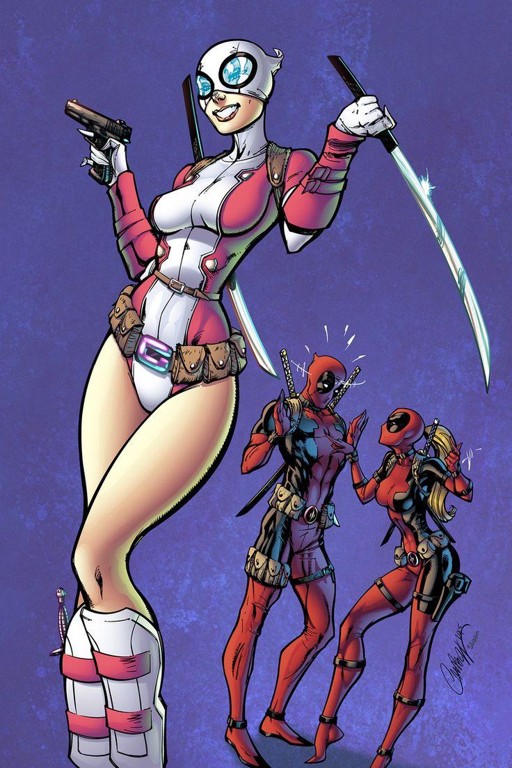 Lady Deadpool,Леди Дедпул, Ванда Уилсон,Deadpool,Дэдпул, Уэйд Уилсон,Marvel,Вселенная Марвел,фэндомы,Gwenpool,Gwen Stacy,Женщина-Паук, Гвен-Паук, Гвен Стейси