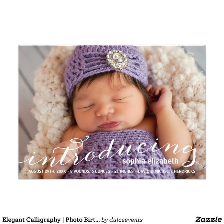 1000  images about baby birth announcement cards on