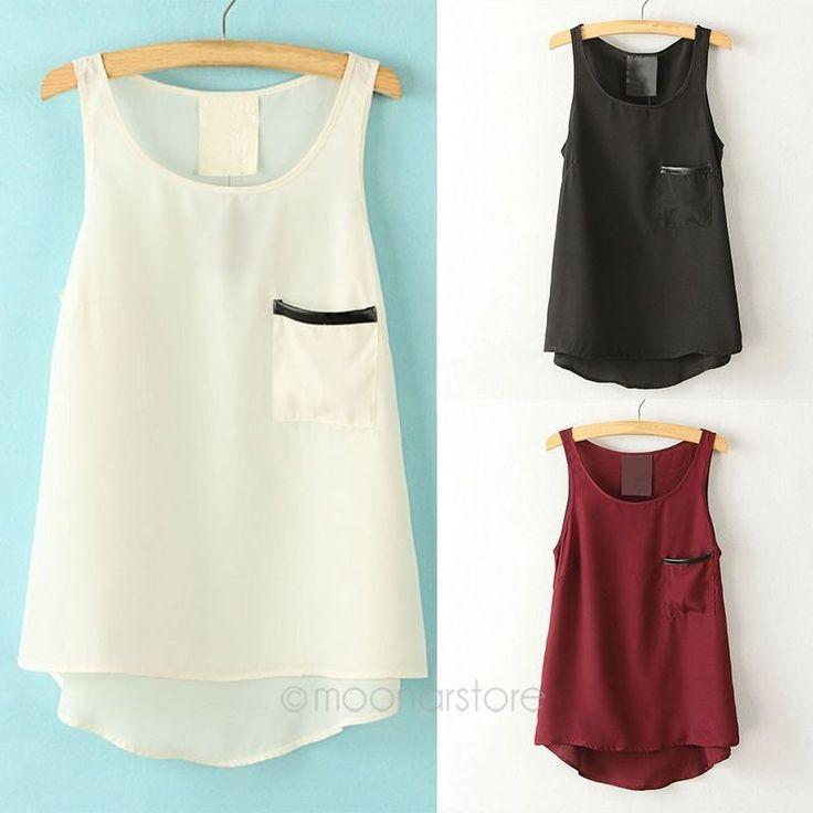 Асимметричный рубашка женские топы простой стиль карманные кармане рубашки топы 2014 круглый образным вырезом без рукавов J * 50CE3112, принадлежащий категории Майки и относящийся к Одежда и аксессуары для женщин на сайте AliExpress.com   Alibaba Group