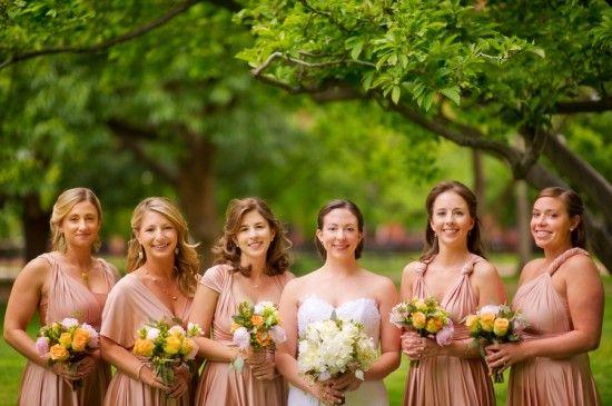 beautiful spring wedding washington dc hay adams Conor Studios bridal party 550x365 Springtime Wedding Ceremony in Washington DC at Hay Adams: Rebecca + Jason