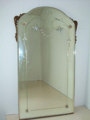 Antique Mirror Nurre Maestro Gilt Glass Framed Vtg Vanity