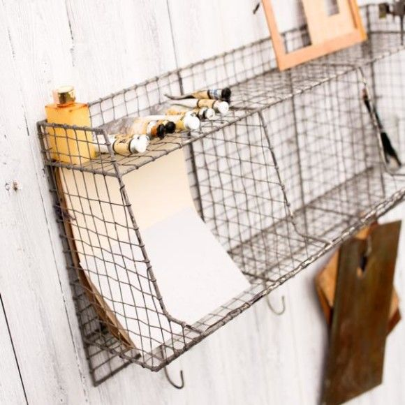 Rustic / Vintage Wire Shelf by Nkuku - Antelope Homewares - gifts, homeware, kitchen, living space