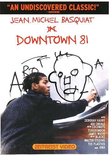 "Jean-Michel Basquiat - Downtown 81 -   A ""lost"" film that chronicles the early-1980's Manhattan art and music scene with Deborah Harry, Kid Creole and the Coconuts, Tuxedomoon, James White and the Blacks, Walter Steding, The Plastics, and DNA"