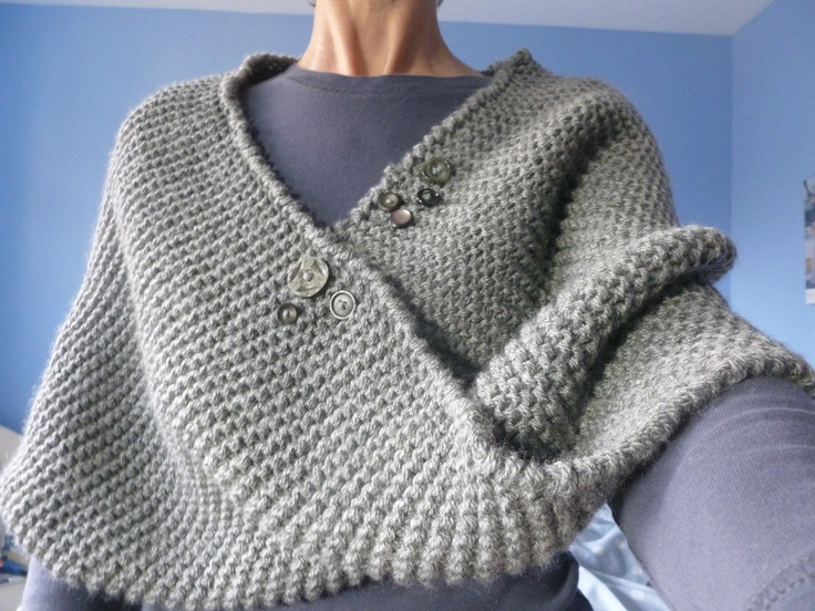1000+ images about knitted shawl with button on Pinterest