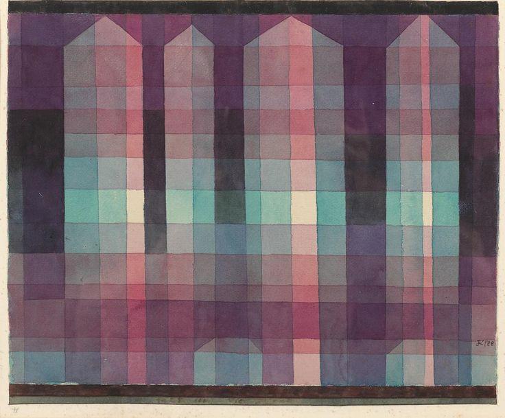 de chorar. DE CHORAR.  Paul Klee - Four Towers, 1923 Watercolour on paper   26 x 32cm