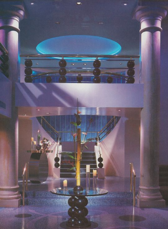 Palette Restaurant, Los Angeles, 1984 (popularsizes.tumblr.com) #80s #interior #design #architecture