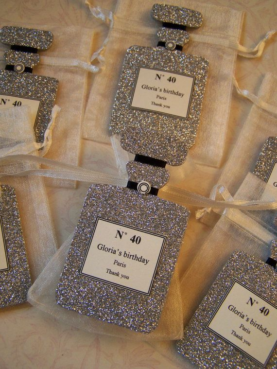 Chanel Inspired party Favor bags 10 pieces by FavorsByGirlybows, $15.00