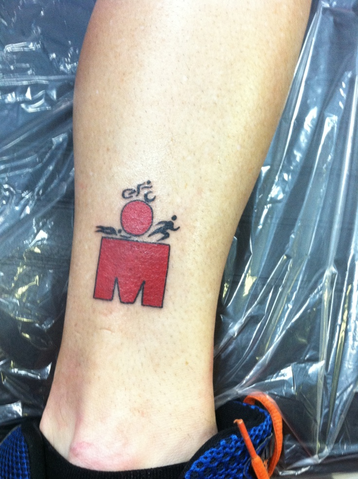 Uncle Kenny's ironman triathlon tattoo! He did the race yesterday in under his goal!