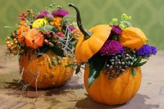 Tischdeko Herbst mit Kürbis
