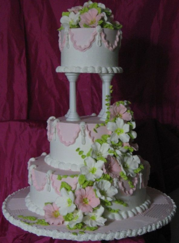 stacked wedding cake construction pillar wedding cakes boards separator plates and 20461