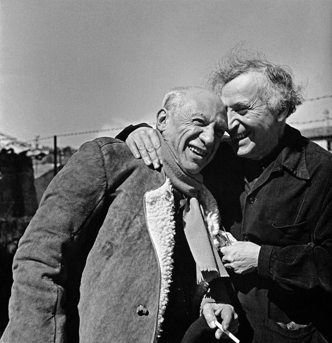 FRANCE. Provence-Alpes-Cote d'Azur region. Pablo PICASSO and Marc CHAGALL. 1955.