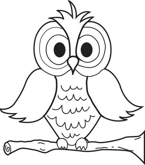 Cartoon Owl Coloring Page Owls Owl Coloring Pages Coloring