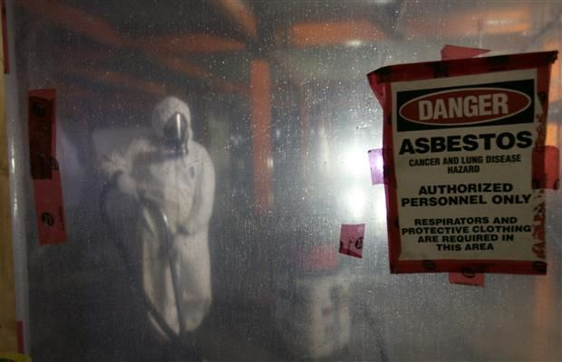 Take extra care when dealing with asbestos