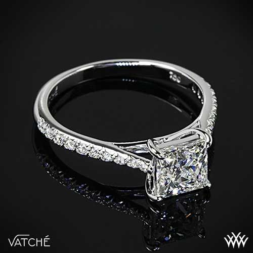 vatche pave princess cut engagement ring with a 92ct