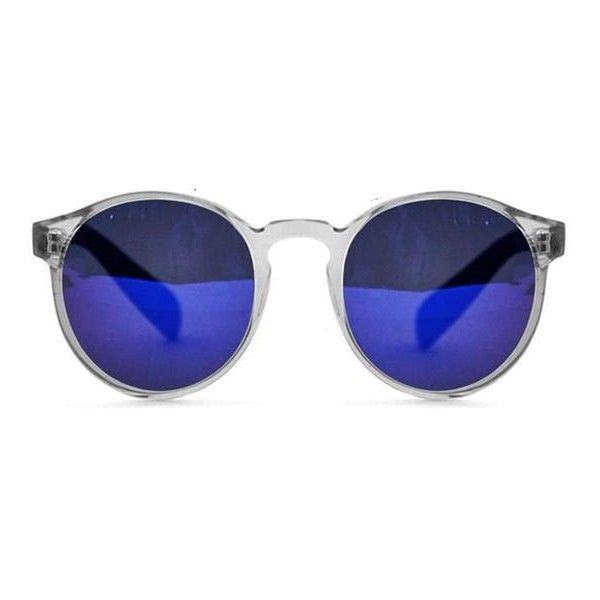 Spitfire Anorak 2 Clear/Blue Mirror Sunglasses ($46) ❤ liked on Polyvore featuring accessories, eyewear, sunglasses, glasses, clear crystal, mirrored lens sunglasses, blue sunglasses, metal frame sunglasses, blue mirror sunglasses and mirror sunglasses