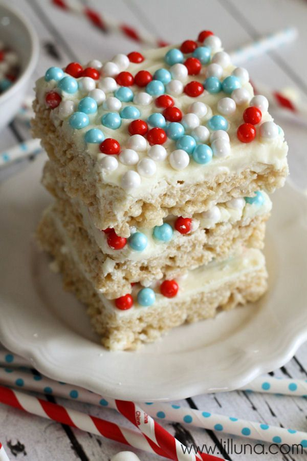 Delicious White Chocolate Rice Krispies Treats