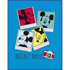 Plaid polaire Mickey Photomaton