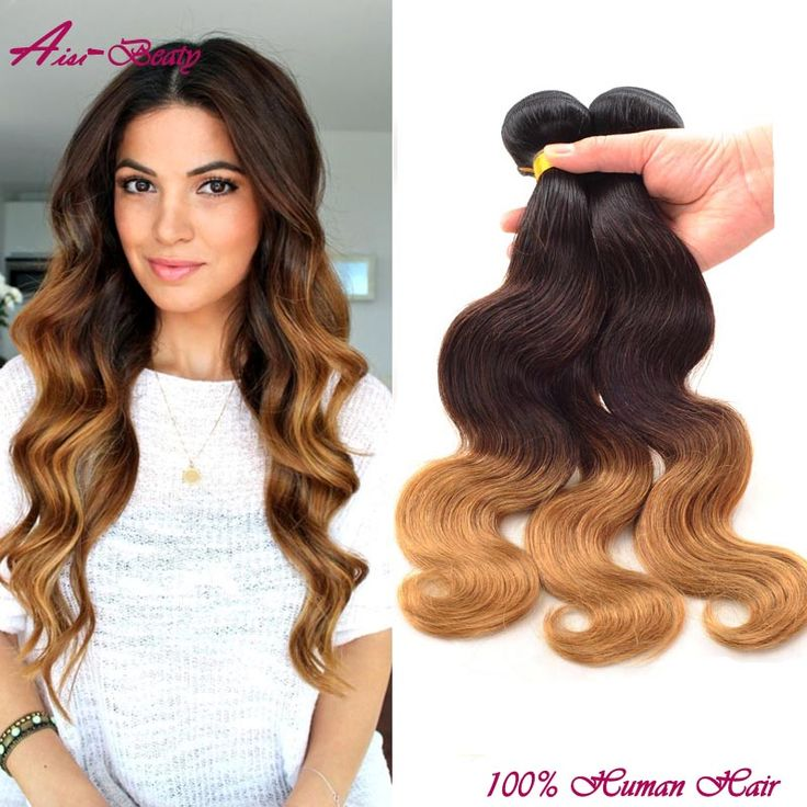 3 bundle deals ombre brazilian hair bundles brazilian virgin hair body wave two and three tone ombre human hair weave extensions
