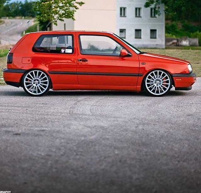 Red Golf 3 GTi.  This was the first car that I bought for myself.