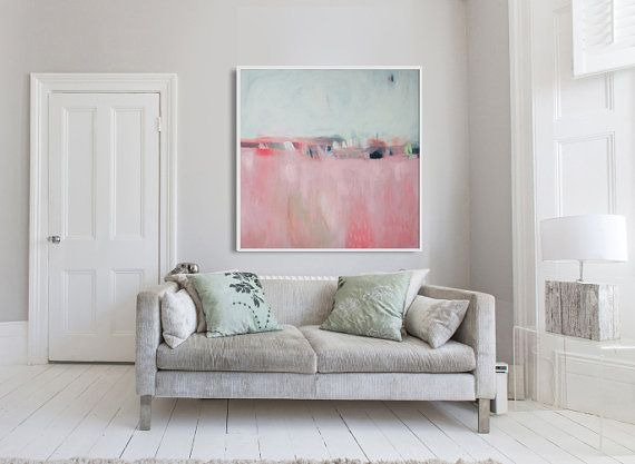 Abstract painting print GICLEE PRINT pink and by LolaDonoghue