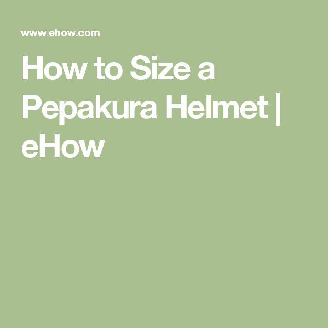 How to Size a Pepakura Helmet | eHow