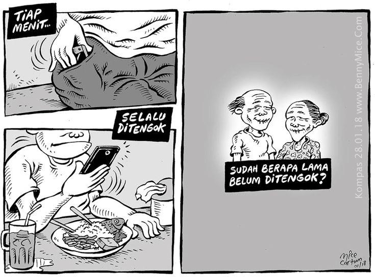 MICE CARTOON - SELALU DITENGOK - Karya: Muhammad Misrad - Sumber: Kompas Minggu - 28 Januari 2018 (KLIK gambar untuk memperbesar)
