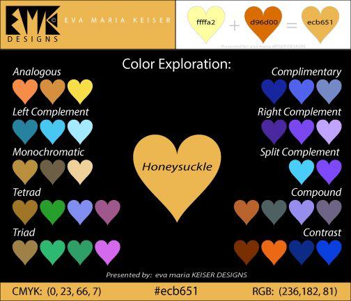 "Eva Maria Keiser Designs: Explore Color: ""Honeysuckle"" (#ecb651)"