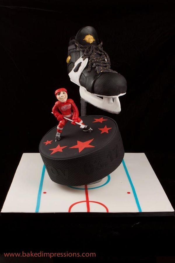 hockey bar mitzvah cake — Bar Mitzvah / Bat Mitzvah