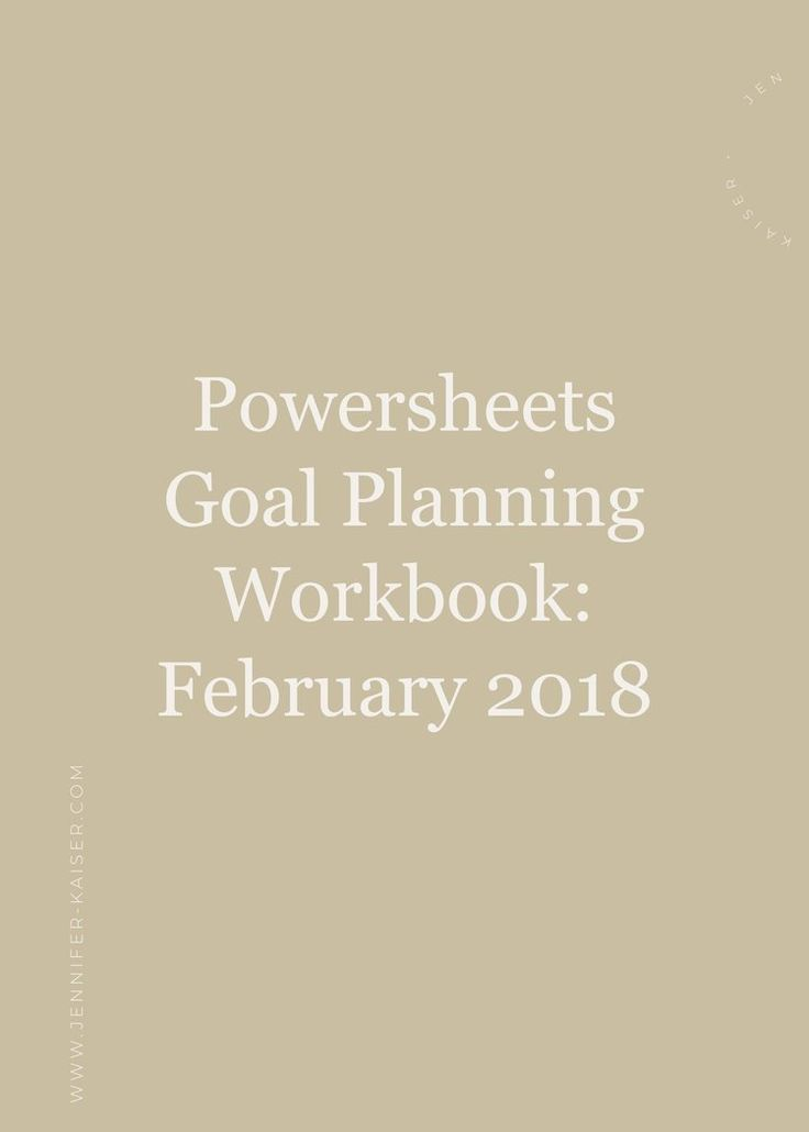 PowerSheets Goal Check-In: February 2018