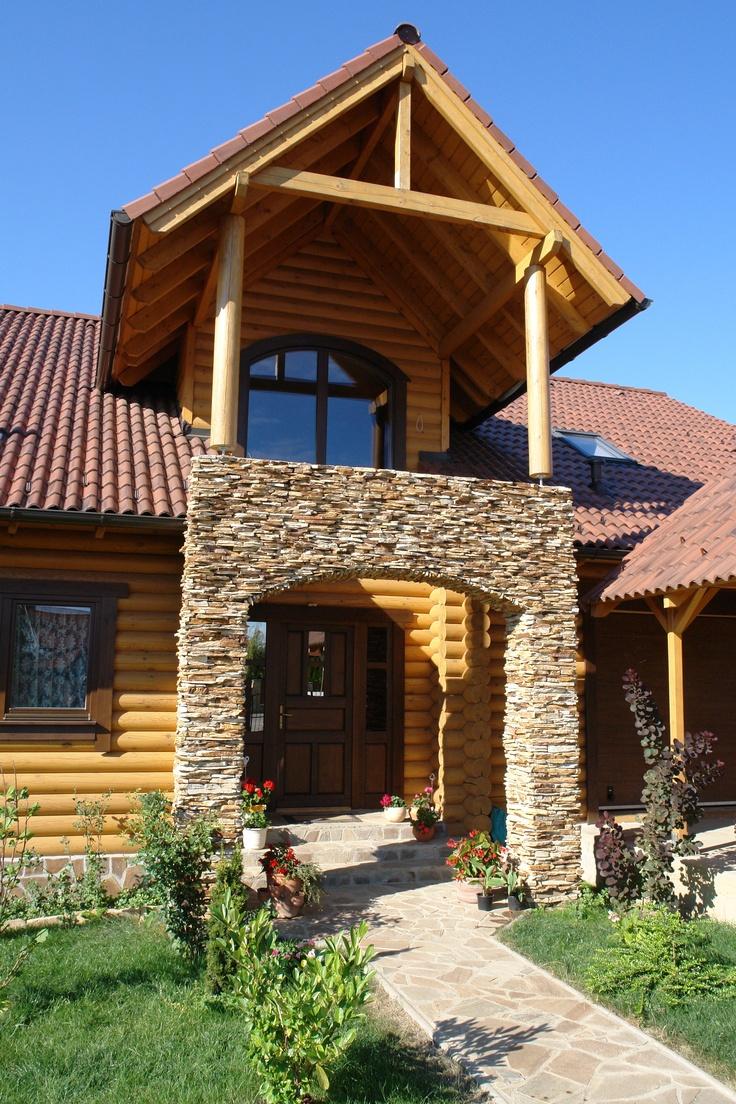 Log home builders nova scotia - Finished Log Home Exterior